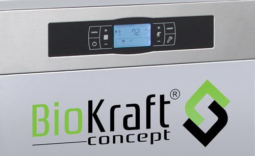 Écran tactile de Gestion électronique de la Chaudière BioKraft Concept